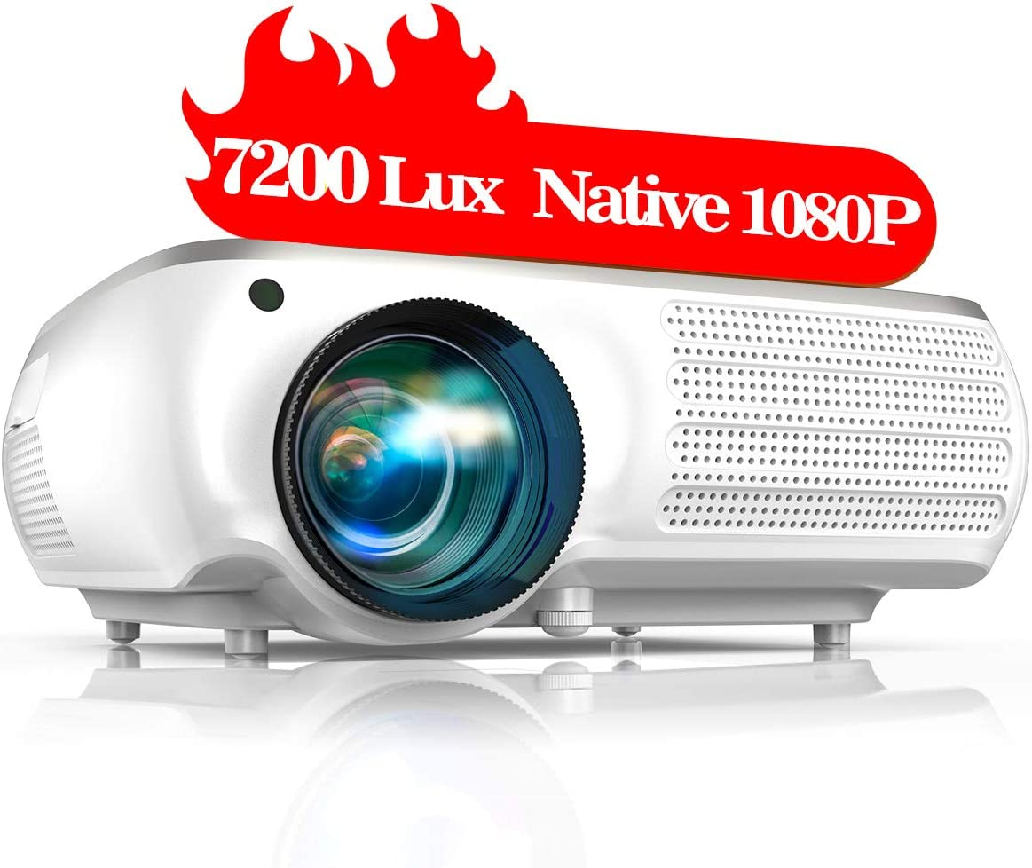 TOPTRO Projector 7200 lumens with 4k 350 inch support