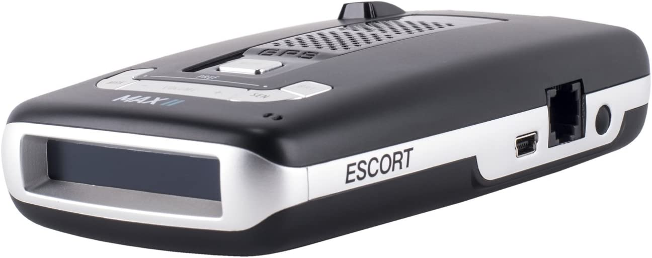 Escort 0100016-3 Max II – Radar Laser Detector, Auto learn Technology, Live App, Bluetooth, GPS, Speed Alerts, Headphone Jack, Blue, Blue Display