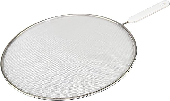 HOME-X Splatter Shield, Stainless Steel Splatter Screen, Grease Guard for Frying Pan, 11.75 Inch Diameter