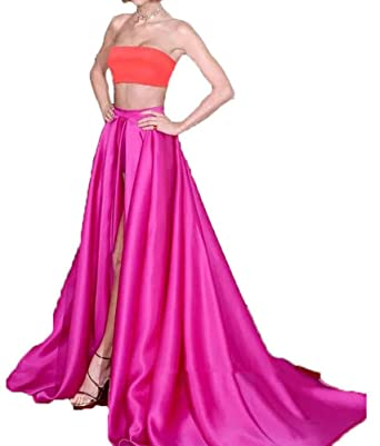 Satin Two Piece Dress