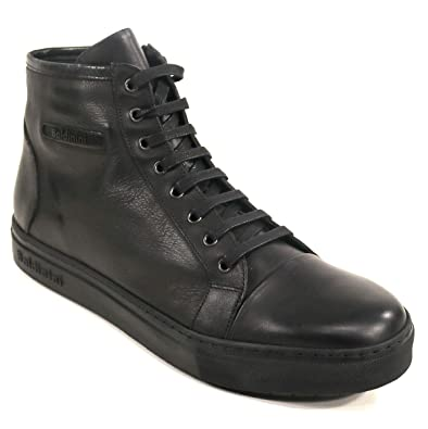 5bb2ae885 BALDININI Italian Shoes Men's Black Leather and Suede Winter (40, Leather  Winter Sneakers)