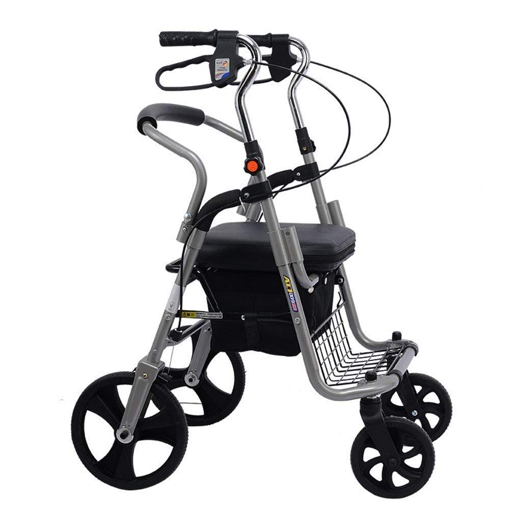 YFQ - Andador Plegable estándar con Asiento Acolchado, Soporte de ...