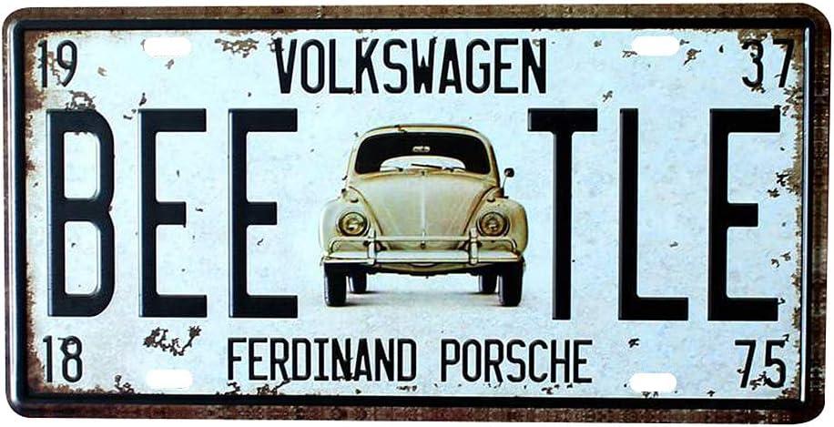 Hacoly Metall Blechschild Vintage Schild Eisen Gemälde Auto Beetle Retro Blechschilder