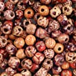 YUEAON wholesale 200pcs 10mm natural painted wood beads round loose wooden bead bulk lots ball for jewelry making craft hair diy macrame bracelet necklace mix color