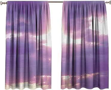 Landscape Bedroom Curtains Sunburst on Cloudy Sky Rainy ...