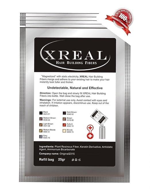 6 opinioni per XReal Hair Fibers refill 25g Microfibre di Cheratina anti diradamento capelli