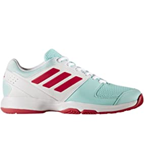 adidas Barricade Court 2 W, Chaussures de Tennis Femme, Rose/Blanc (Rose Shocking/Blanc Footwear/Rayon de Soleil), 37 1/3 EU