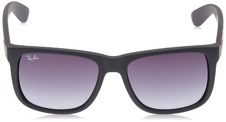 Ray-Ban RB4165 601/8G 54-16 Justin - Gafas de sol, Hombre, Negro (Rubber Black), Tamaño de la lente-puente: 55 16