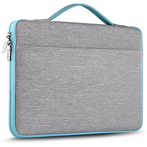 ZINZ 15 – 15.6 Inch Laptop Sleeve Case Protective Bag for 15″ MacBook Pro 2016, Ultrabook Notebook Carrying Case Handbag for 15″ ASUS Acer Lenovo Dell HP Toshiba Chromebook Computers -Grey