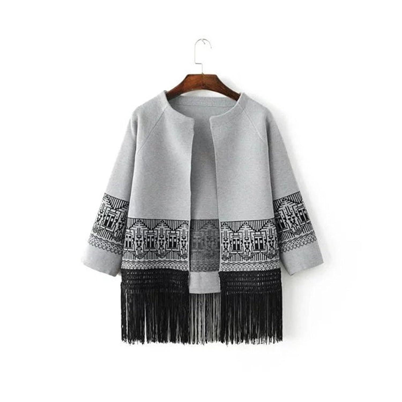 YINHAN Women's Cardigans Tassel Casual Knitwear Sweaters