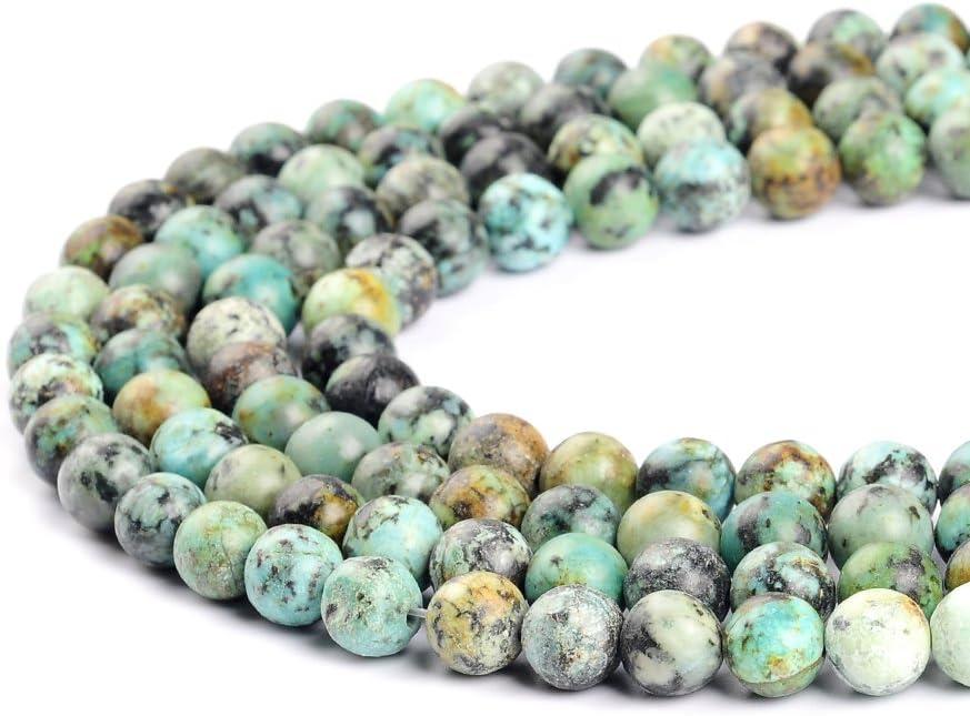 Perlas color turquesa africanas de 2mm, 3mm, 4mm, 6mm, 8mm, 10mm y 12mm para creación de joyería de Ruilong, Turquesa, 6 mm