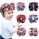 ZHW Baby Girls Toddler Bow Headbands Turban Knot Rabbit Hairband Headwrap 6 Pack
