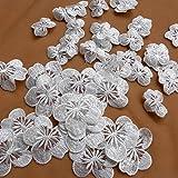100pieces/lot 4cm/6cm off white Transparent sequins embroidery applique patch DIY sew-on clothes/skirt accessories Active (4cm)
