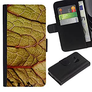 iKiki Tech / Cartera Funda Carcasa - Leaf Close Zoom Green Nature Forest Tree - Samsung Galaxy S3 MINI NOT REGULAR! I8190 I8190N