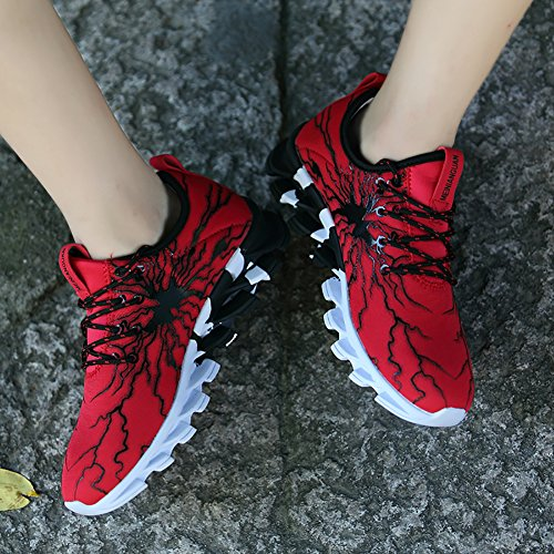 1 Lovers Town Red Fashion Running Lightweight Casual Women's Men's Sneaker No lightning 66 Shoes BHSPqq6