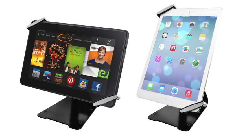 """CTA Digital: Universal Anti-Theft Security Grip with POS Stand for 7-11"""" Tablets/iPad 10.2-Inch (7th Gen.), 11-Inch iPad Pro, iPad Air 2, iPad Mini 5, Galaxy Tab, Note 10.1 & More"""