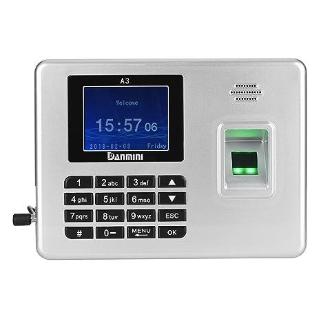 fosa Máquina de Asistencia Biométrico de Huellas Dactilares Digitales, de Pantalla TFT 2,8
