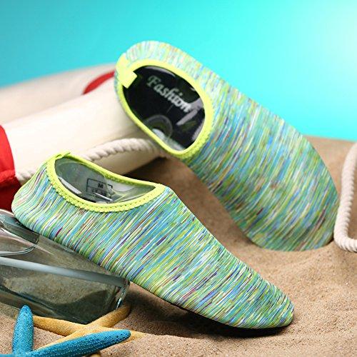 Fantastiska Zon Kvinnors Och Mäns Vattensportskor Barfota Snabbtorkande Aqua Yoga Strumpor Slip-on För Män Kvinnor Barn För Strand Simmar Surf Yoga Övning Grönt