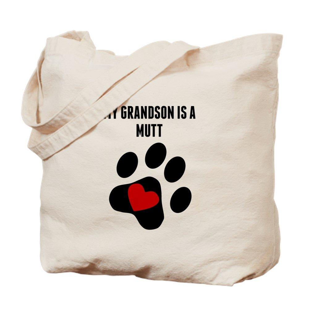 CafePress – My Grandson is a Mutt – ナチュラルキャンバストートバッグ、布ショッピングバッグ B01CH6SPMO