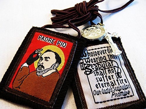 Padre Pio Scapular by Rose Scapular Corp.