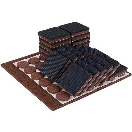 Furniture Pads Non Slip Soft Rubber 22 Pcs 2 And 37 Pcs Felt Floor