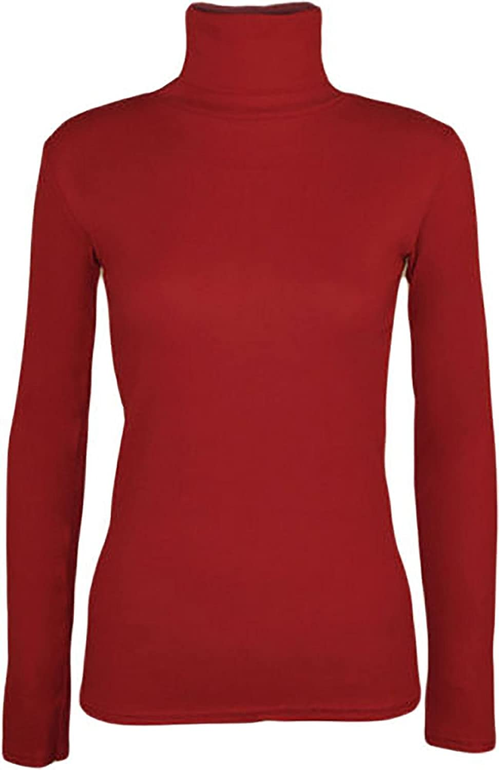 Ladies Long Sleeve Turtle Polo Neck Top Womens Top Jumper