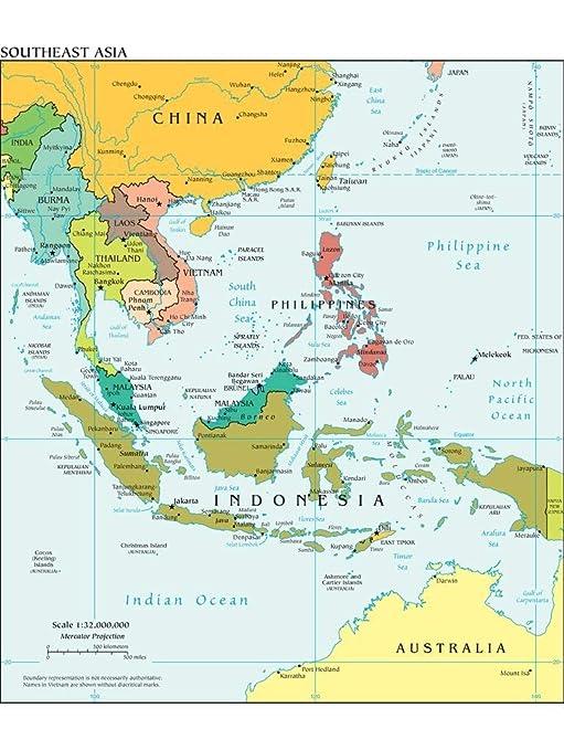 Map Of Asia 500.Amazon Com Lais Jigsaw Map Southeast Asia 500 Pieces Toys Games