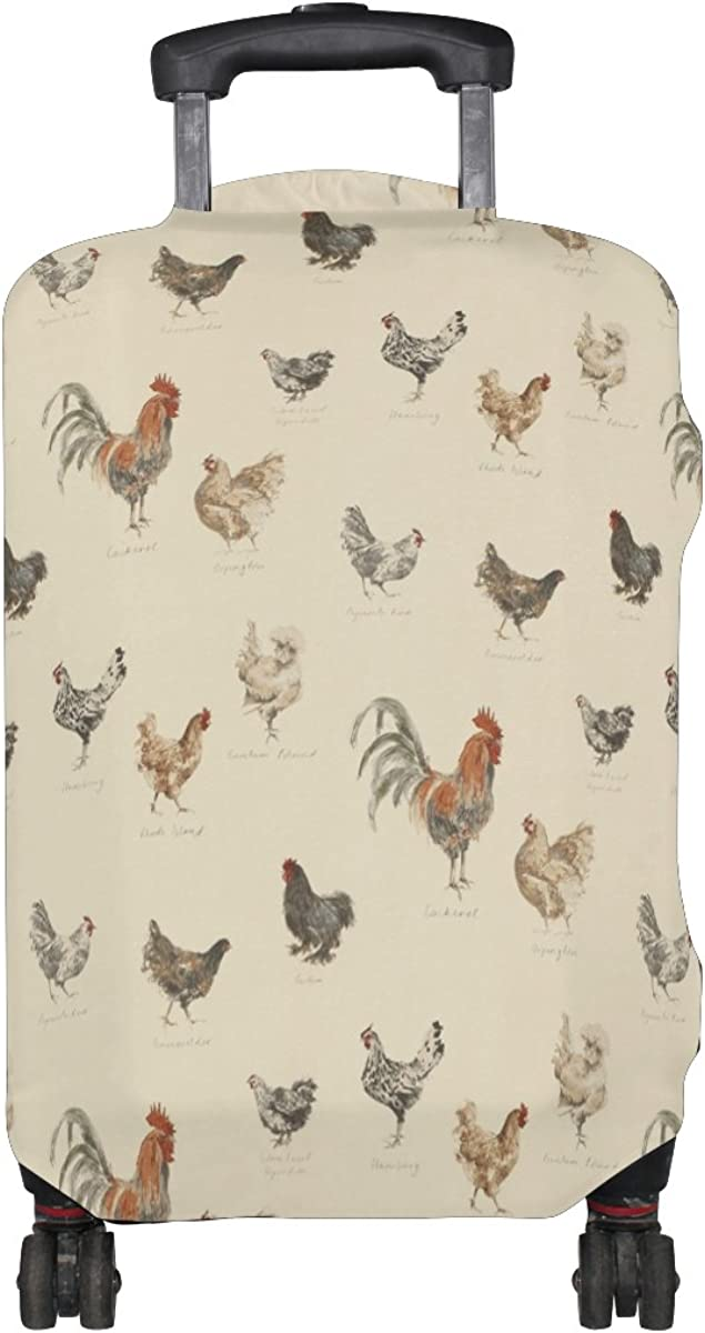LAVOVO Cock Rooster Luggage Cover Suitcase Protector Carry On Covers