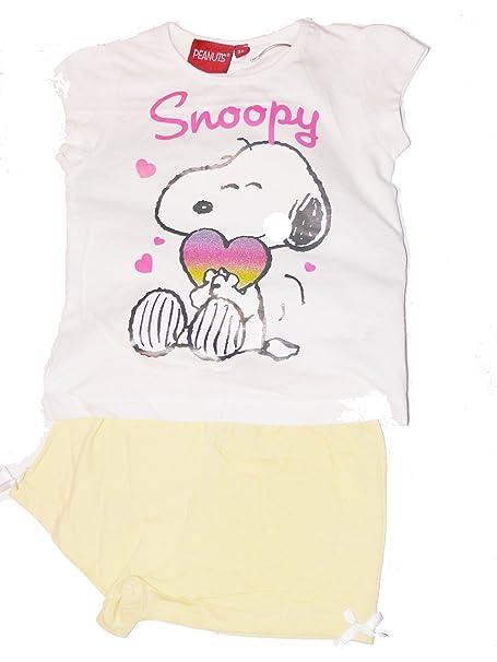 Pijama corto, diseño de Snoopy multicolor 24 meses