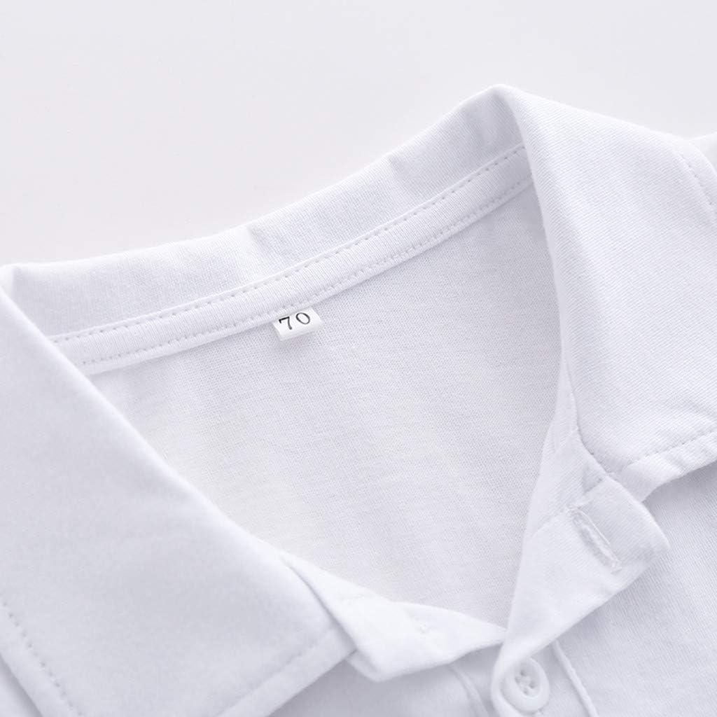 Huhu833 Baby Sweatshirts Kleinkind Kinder Baby Jungen Kleidung Button Up Kragen Langarm T-Shirt Cartoon B/är Polo Shirt T-Shirt