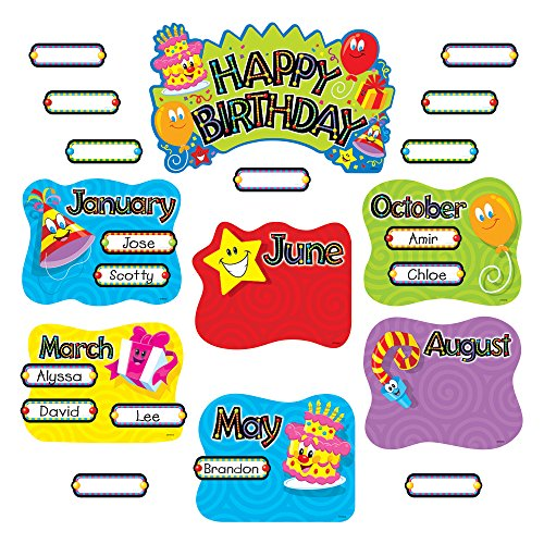 TREND Happy Birthday Mini Bulletin Board Set, 47-Pieces