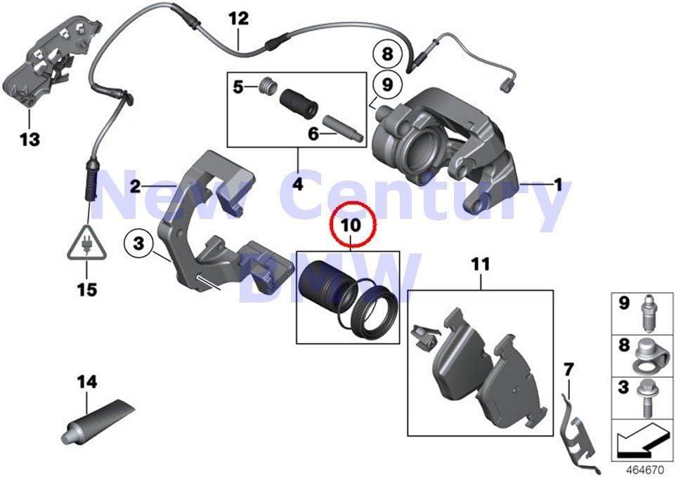 New Brake Pad Wear Sensor Set For BMW X5 X6 2007-2010 Pair Rear 2 Front