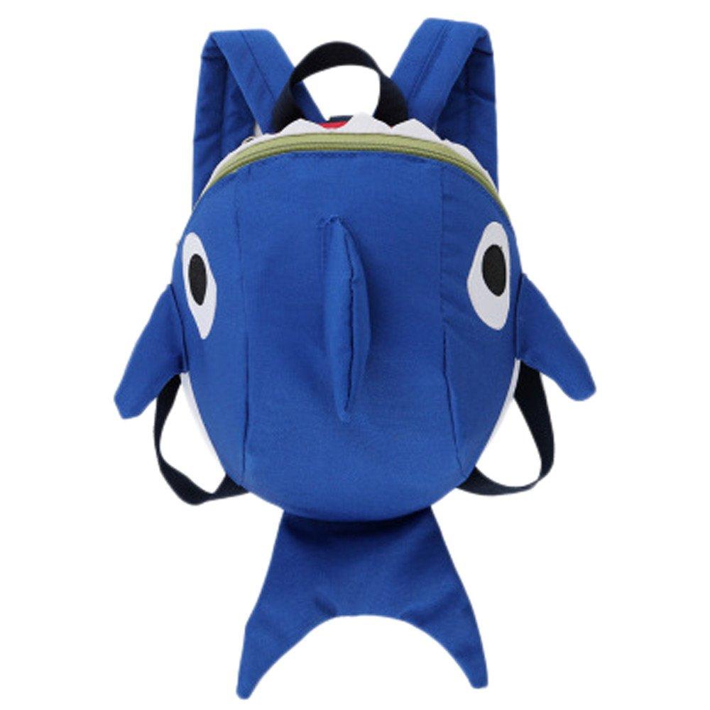 Kehen Shark Backpack Kids Toddler Child 3D Cartoon Backpack School Bag for Pre School Pre Kindergarten (Blue)