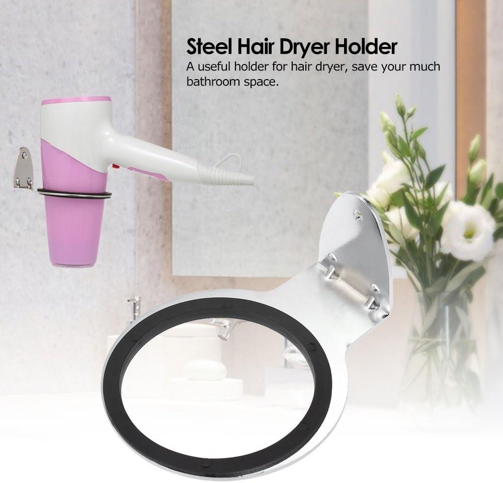Anself supporto asciugacapelli montaggio a parete asciugacapelli rack bagno organizer portaoggetti in acciaio da parrucchiere essiccatore Hanger