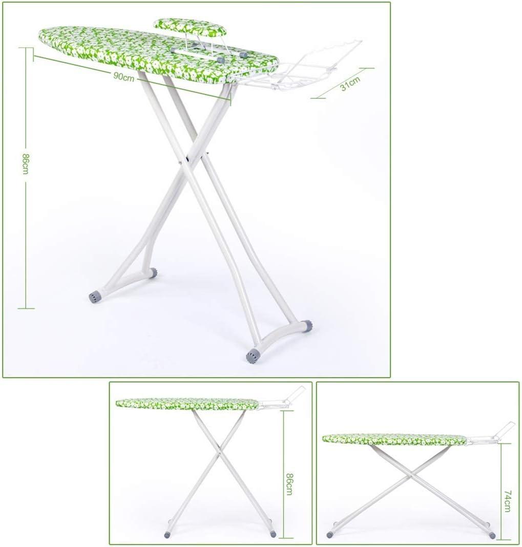 Planche à repasser pliante, grande table à repasser réglable en hauteur de ménage de panneau de vapeur solide de chambre à coucher, 110 * 31 * 85CM (Couleur : A) C