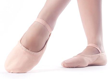 Happy Dance 24 - Zapatillas de Ballet para niñas, Color salmón, Talla 38