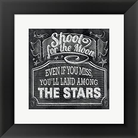 Chalkboard the moon the stars by ihd studio framed art print wall picture