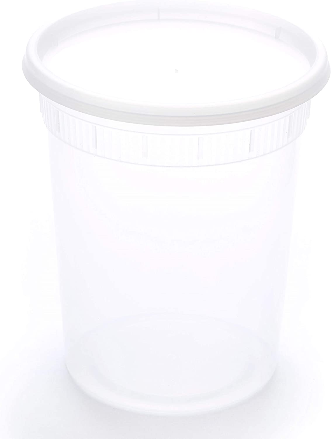 Scotty's 24 Pack of 32 oz Deli Plastic Food Storage Containers with Lids - 24 containers and 24 lids - Microwaveable - Restaurant Quality