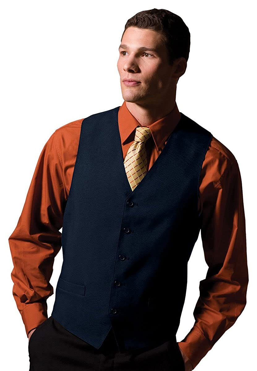 Edwards Garment Mens Textured Weave Fully Lined Economy Vest/_DARK NAVY/_4XL R
