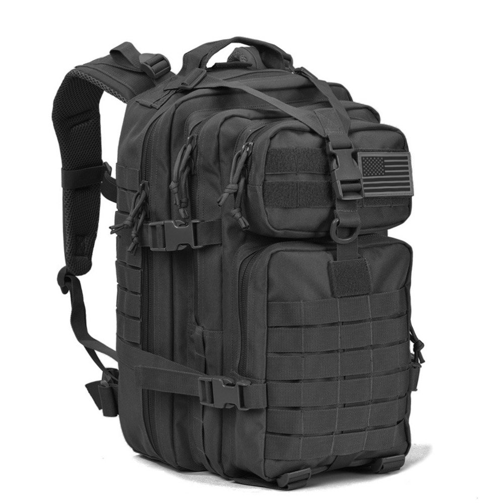 REEBOW GEAR Military Tactical Assault Pack Backpack Army Molle Bug Out Bag Backpacks Small Rucksack for Outdoor Hiking Camping Trekking Hunting Small Black …