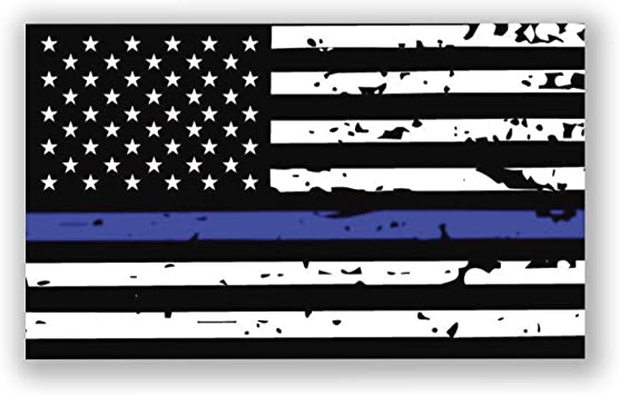 Flag Tattered Carbon Decal Lives Matter Thin Blue /& Red Line American U.S