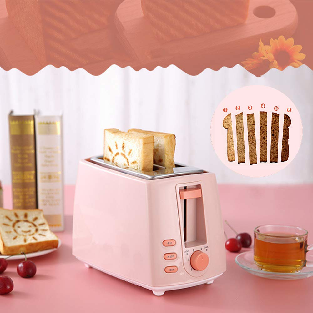 Gyswshh 2-slice Automatic Electric Toaster, Breakfast Maker,Household Bread Toast Machine Pink by Gyswshh (Image #7)