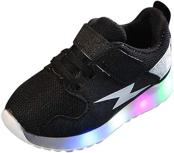 Children LED Sports Sneakers Boys Girls Toddler Kids Running Light Casual Shoes