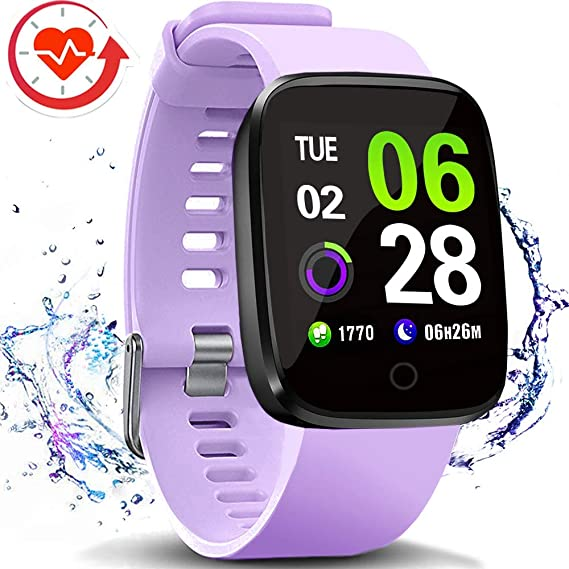 FITVII Smart Watch, Fitness Tracker with Multifunctional Sport Mode, Heart Rate & Blood Pressure Monitor with SpO2 and Sleep Tracker, Waterproof Color ...