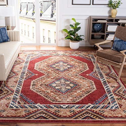 Safavieh Bijar Collection BIJ647R Traditional Oriental Distressed Non-Shedding Stain Resistant Living Room Bedroom Area Rug