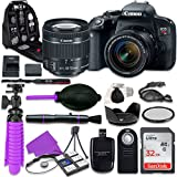 Canon T7i Rebel DSLR Camera with Canon 18-55mm IS STM Lens, 32GB Memory + Accessory Bundle