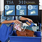 3pcs TSA-Approved Clear Travel Toiletry Bag With