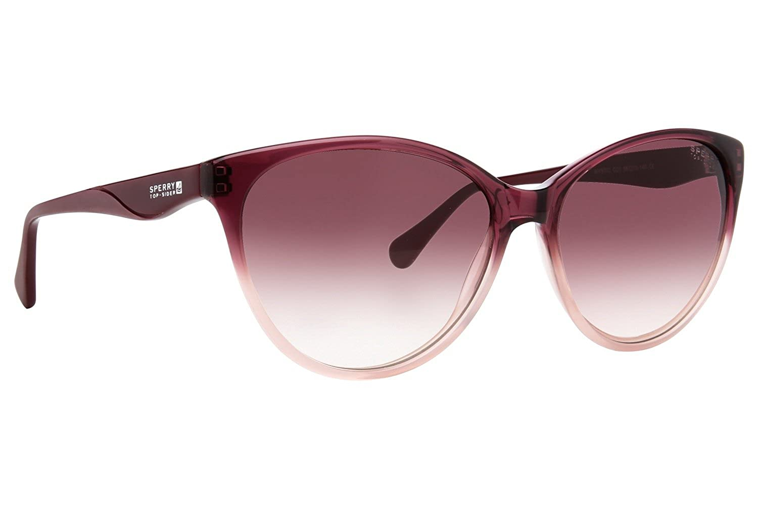 24c45715708 Amazon.com  Sperry Top-Sider Mystic Womens Sunglasses - Eggplant Fade Eggplant  Gradient  Clothing