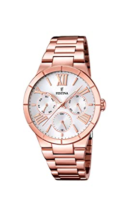 Festina F16718-1 Ladies Rose Gold Plated Multifunction Watch