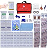 XFentech 230 Piece First Aid Kit Bag for School, Home, Office, Caravan, Workplace, Travel